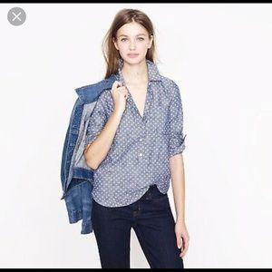 💕 JCREW Circle Chambray Button Down Shirt